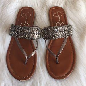 Jessica Simpson Rosina metallic sandals size 9.5